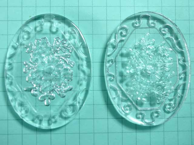 CO476JJ 40×30 グラスインタリオ 花束と飾枠