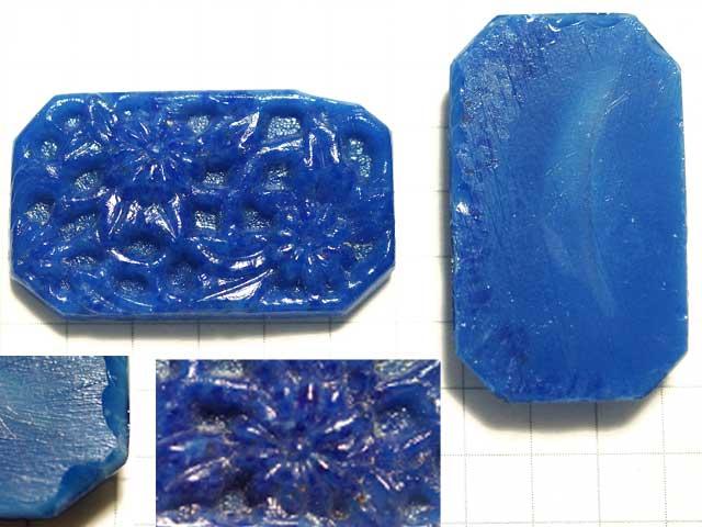 CS460JJ 17.5×29 グラスカボション 彫刻 紺花
