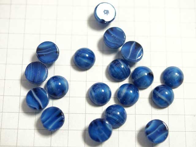 CS530JJ 7mm グラスカボション 青縞