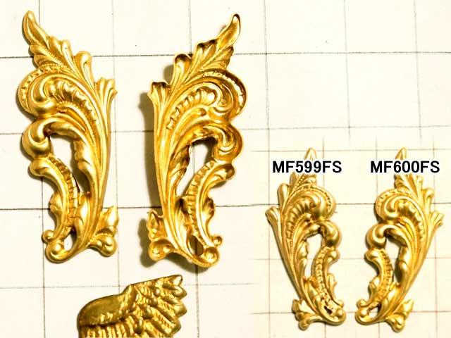 MF600FS スタンピング ロココリーフ 左向き 真鍮