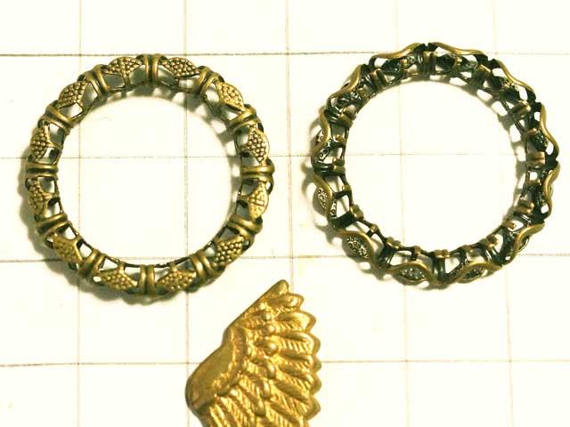 MF647FM フィリグリー 16mm環状 真鍮古美