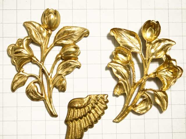 MF862JJ スタンピング チューリップ花束 真鍮