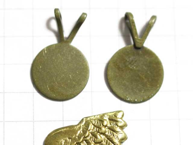 MF911JF 貼付用バチカン 10mmパッド 真鍮古美