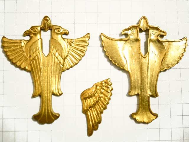 MF955JJ スタンピング エジプト風 鳥 真鍮