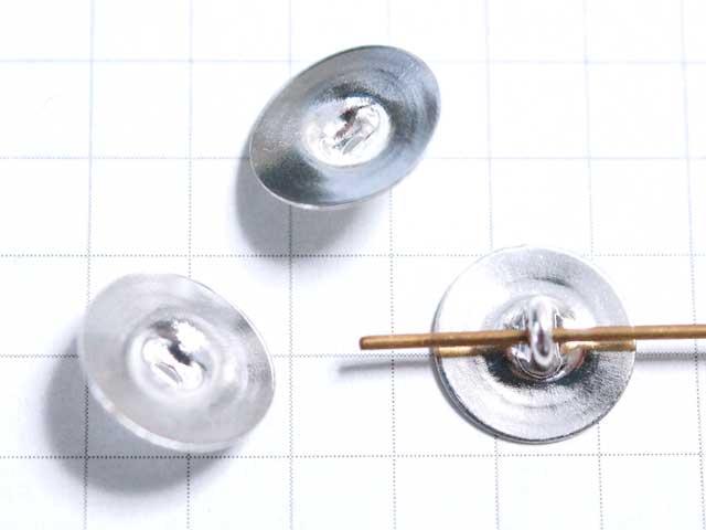 MS286FM10mm ボタン用金具 銀 5個入