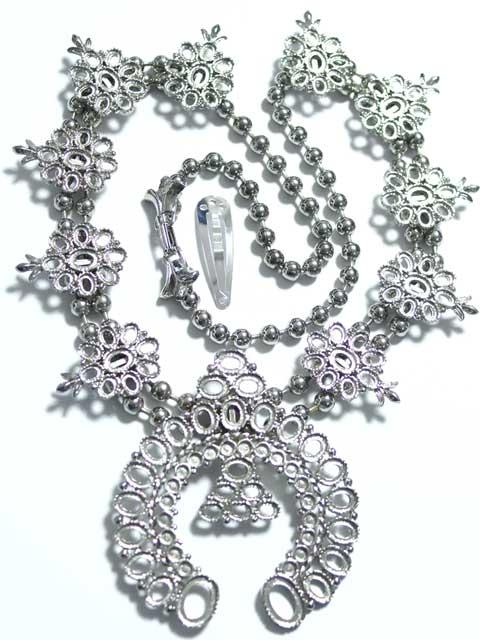 MS313JJ ネックレス石座 スチール 銀