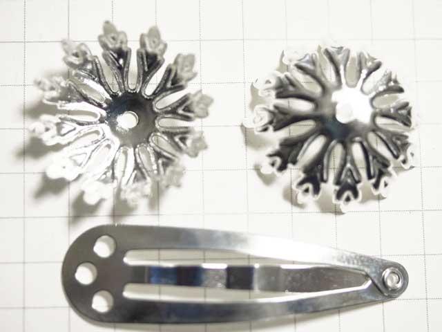 MS379FM ビーズキャップ 21mm 12枚葉 銀