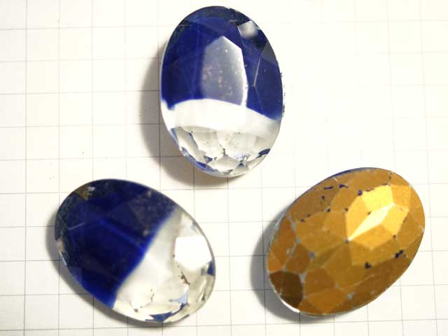 SOV04JJ 25×18 オーバル ブルー&ホワイトギブレ