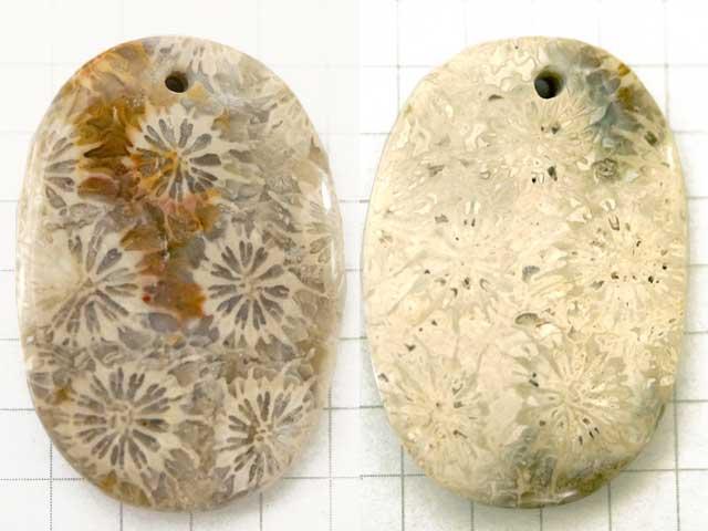 ST186TA 34×23.3 オーバル 菊目石 1穴
